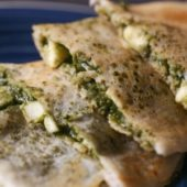 Chicken Palak (Spinach) Dosa