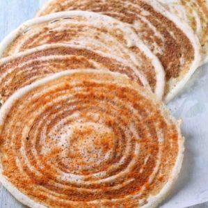 Podi(Spicy Daal Chaana Powder) Masala Dosa